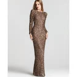 papell lace dress abs by allen schwartz sleeve sequin gown polyvore
