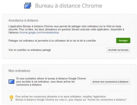 autoriser connexion bureau distance bureau à distance chrome version finale les infos de