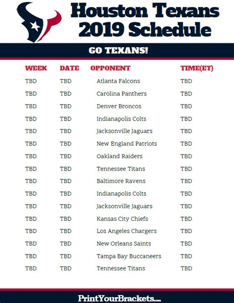 Printable Green 2018 Bay Packers Schedule