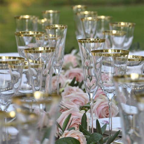 noleggio bicchieri noleggio bicchieri tuscany filo oro