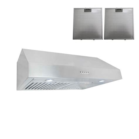 30 stainless steel range hood under cabinet cosmo 30 in under cabinet range hood in