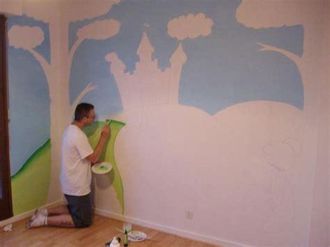 chambre bébé bourriquet peinture mur chambre bebe exemple de peinture gomtrique
