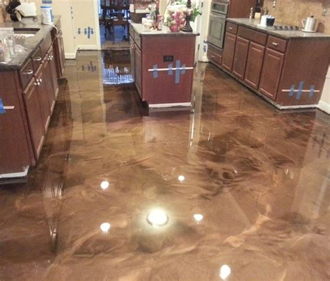epoxy flooring kitchen أرضيات الايبوكسي metallic epoxy المهندس المعماري جهاد الخندق 3585
