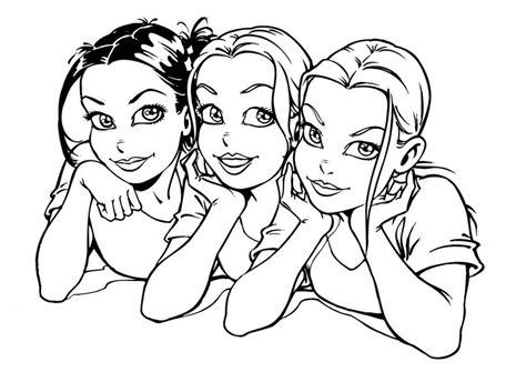 Best friends best friends pinterest dessin amis et. Coloriage fille à imprimer pour les enfants - CP11839