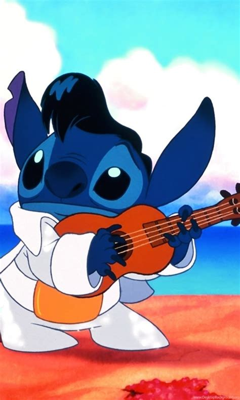 disney lilo stitch guitar cartoons wallpapers desktop