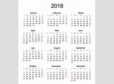 2018 Calendar Template Free Stock Photo Public Domain