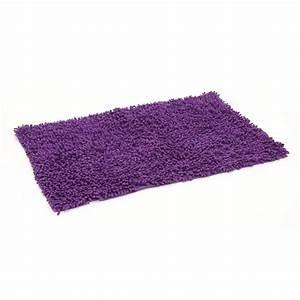 tapis de salle de bain 50x80cm violet With tapis de bain violet