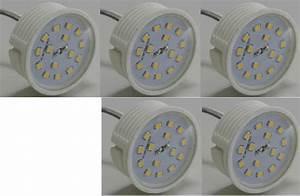 Led Leuchtmittel Flach : 5xled flat flach modul birne lampe 230volt 50x23mm ww f r einbauspots led leuchtmittel ~ Frokenaadalensverden.com Haus und Dekorationen