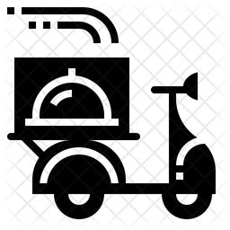 Food delivery Icon of Glyph style - Available in SVG, PNG ...