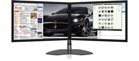 Monitor Arm Desk Mount by Ultraflex Duo Elite Dual Screen Professional Display With