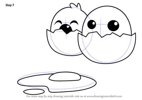 step  step   draw funny cartoon egg