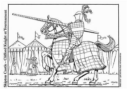 Clifford Coloring Torneo Colorare Cavalliere Disegno Medieval