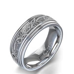 s wedding ring vintage scroll design 39 s wedding ring in 14k white gold