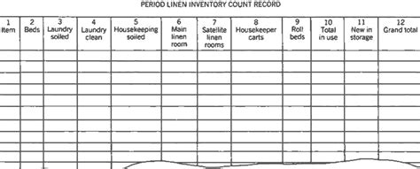 images  housekeeping inventory template leseriailcom