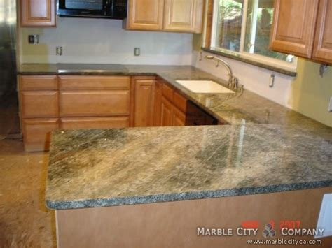 sea foam green granite kitchen granite installation in