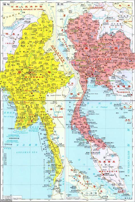 泰国地图_泰国地图中文版_泰国地图全图