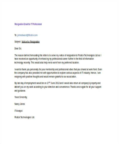resignation email examples   google docs
