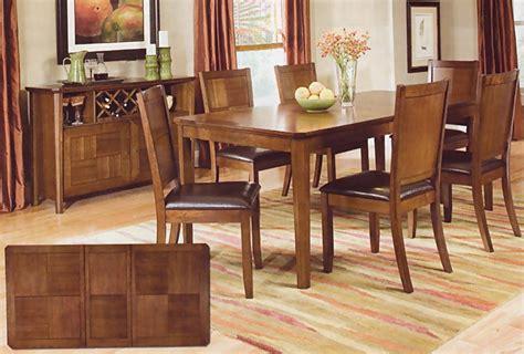 Walnut Finish Dining Room Set  Casual Dinette Sets