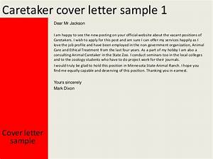 Caretaker cover letter for Cover letter for caretaker position