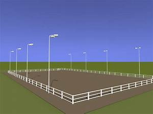 Outdoor horse arena lighting packages steel poles light kits