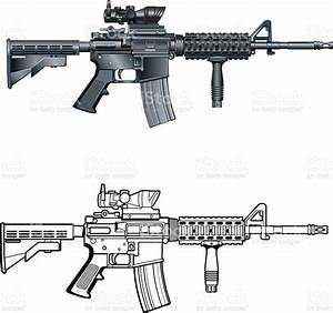 American M4 Ar15 Automatic Assault Rifle Stock