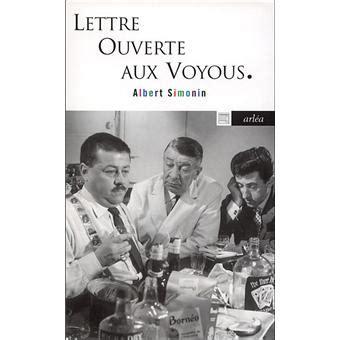 Lettre Ouverte Aux Voyous  Poche  Albert Simonin Achat