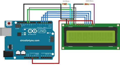 Lcd Interface With Arduino Uno Circuitsyou