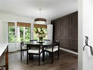 Dining Room Accent Wall Stencil Huge Framed Bay Window ...