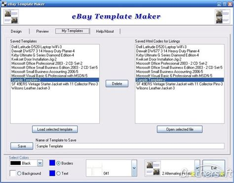 Ebay Template Maker Costumepartyrun - Free ebay template maker
