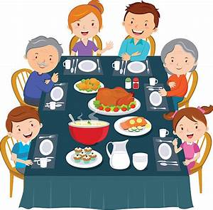 Royalty Free Family Dinner Clip Art, Vector Images ...