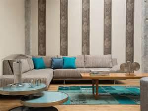 tapeten ideen wohnzimmer 20 ideen für moderne muster tapeten erfrischen die einrichtung