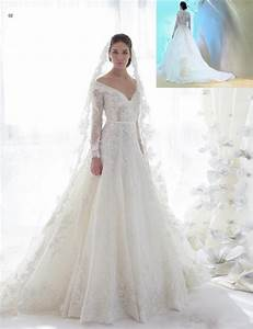 2015 mot beautiful lace long sleeve wedding dresses chapel With lace sleeve wedding dresses
