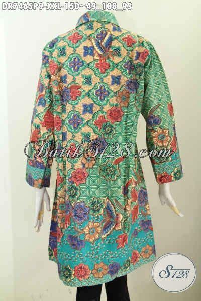 baju batik dress solo kerah miring pakaian batik wanita