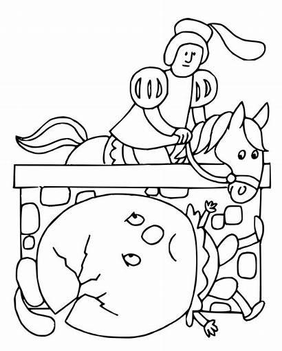 Nursery Rhymes Coloring Pages Rhyme Jack Jill