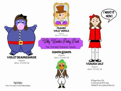 Wonka Willy Factory Chocolate Clip Clipart Charlie