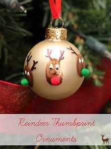Reindeer, Thumbprint, Christmas, Ornament, Craft