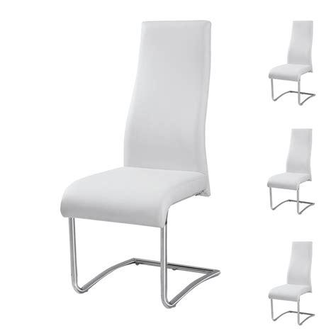chaise simili cuir blanc chaises simili cuir blanc 28 images lot de 4 chaises