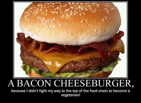 Hamburger Memes - cheeseburger top of the food chain baconcoma com