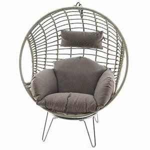 Fauteuil En Osier : fauteuil oeuf en m tal et osier 107x84x141cm autres ~ Melissatoandfro.com Idées de Décoration