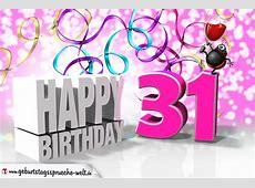 31 Geburtstag GeburtstagssprücheWelt
