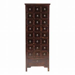 Cabinet Maison Du Monde : cabinet multi tiroirs noir tao maisons du monde ~ Teatrodelosmanantiales.com Idées de Décoration