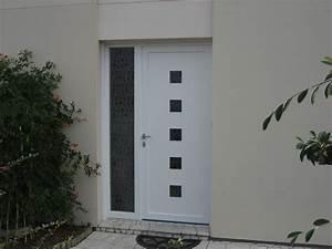 porte d39entree isolation service menuiserie pose de With porte d entrée pvc avec fenetre pvc fixe