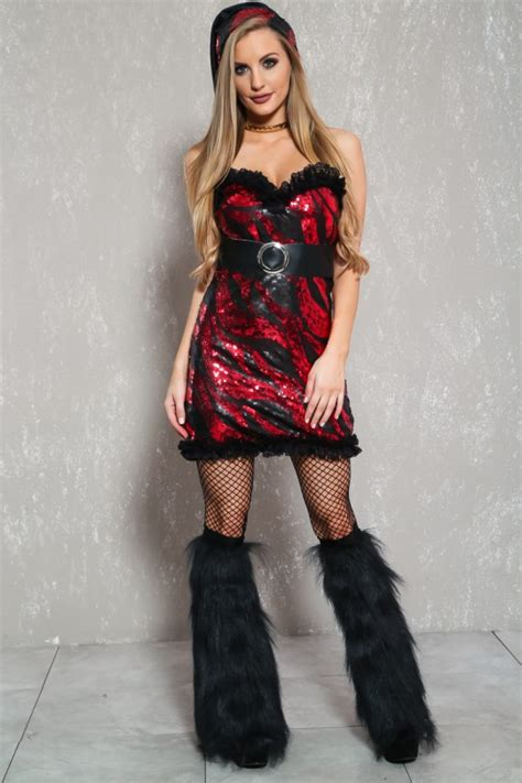 Sexy Black Red Santa Holiday 2pc Bedroom Costume