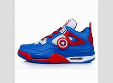 Jordan Captain America Nike Jordan 4 IV Retro Mens Shoes