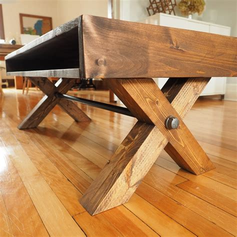 leg coffee table build plans   farmhouse