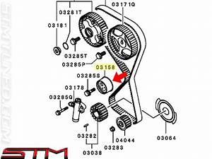 stm oem mitsubishi timing tensioner pulley evo viii ix With evo timing belt