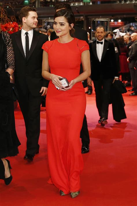 times jenna coleman   queen   red carpet pretty