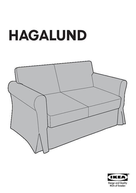 canapé ikea hagalund hagalund convertible 2 places blekinge blanc ikea