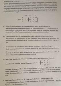 Matrizen Berechnen : anwendung anwendungsaufgaben matrizen aufzucht von rindern drei altersstufen c und d ~ Themetempest.com Abrechnung