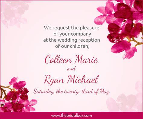 wedding invitation wording ideas   totally